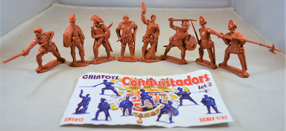 Chintoys Spanish Conquistadors Portuguese Set 2 Burnt Orange/Rust