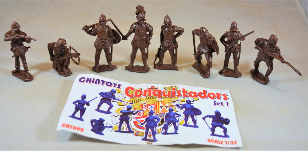 Chintoys Spanish Conquistadors Portuguese Set 1 Brown