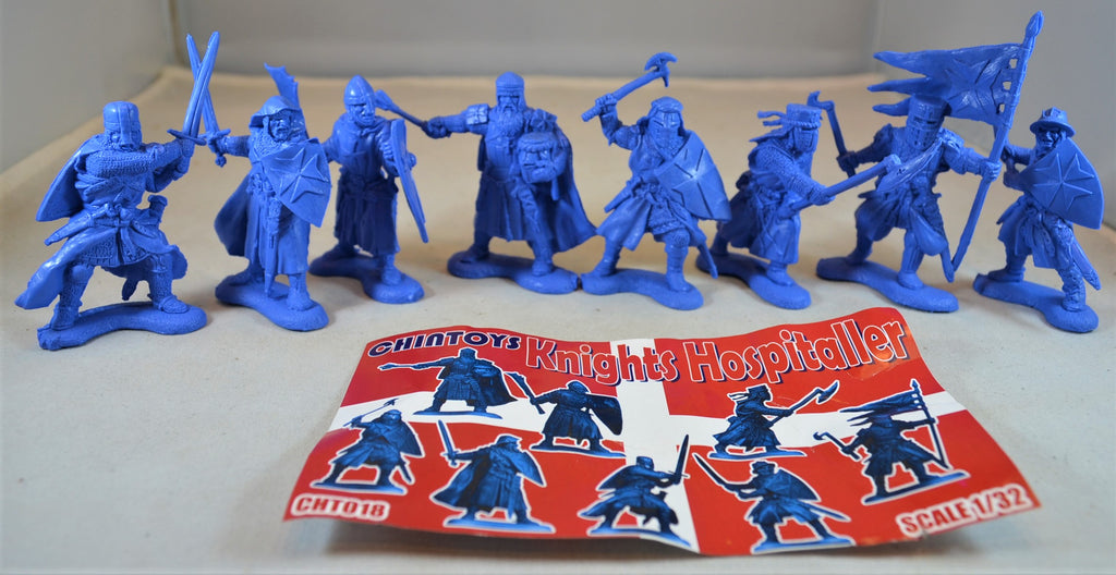 Chintoys Knights Hospitaller Medieval Crusaders Medium Blue