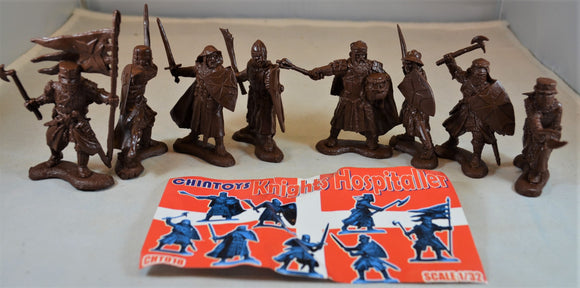 Chintoys Knights Hospitaller Medieval Crusaders Brown