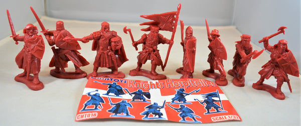 Chintoys Knights Hospitaller Medieval Crusaders Red