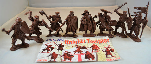Chintoys Knights Templar Medieval Crusaders Brown
