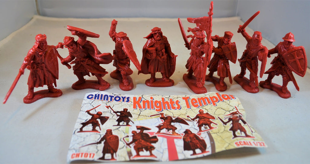 Chintoys Knights Templar Medieval Crusaders Red