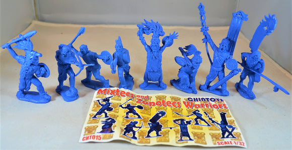 Chintoys Mixtecs and Zapotecs Warriors Set 15 Medium Blue