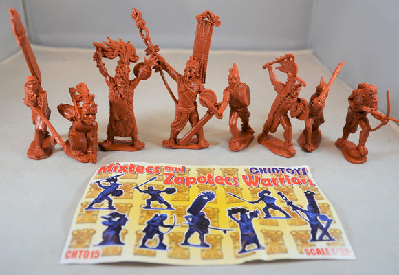 Chintoys Mixtecs and Zapotecs Warriors Set 15 Burnt Orange/Rust
