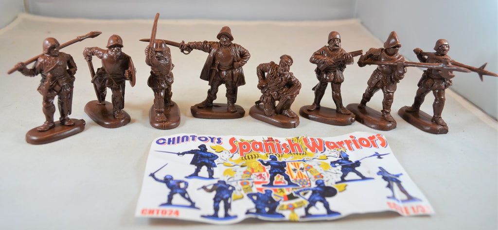 Chintoys Spanish Warriors Conquistadors Brown