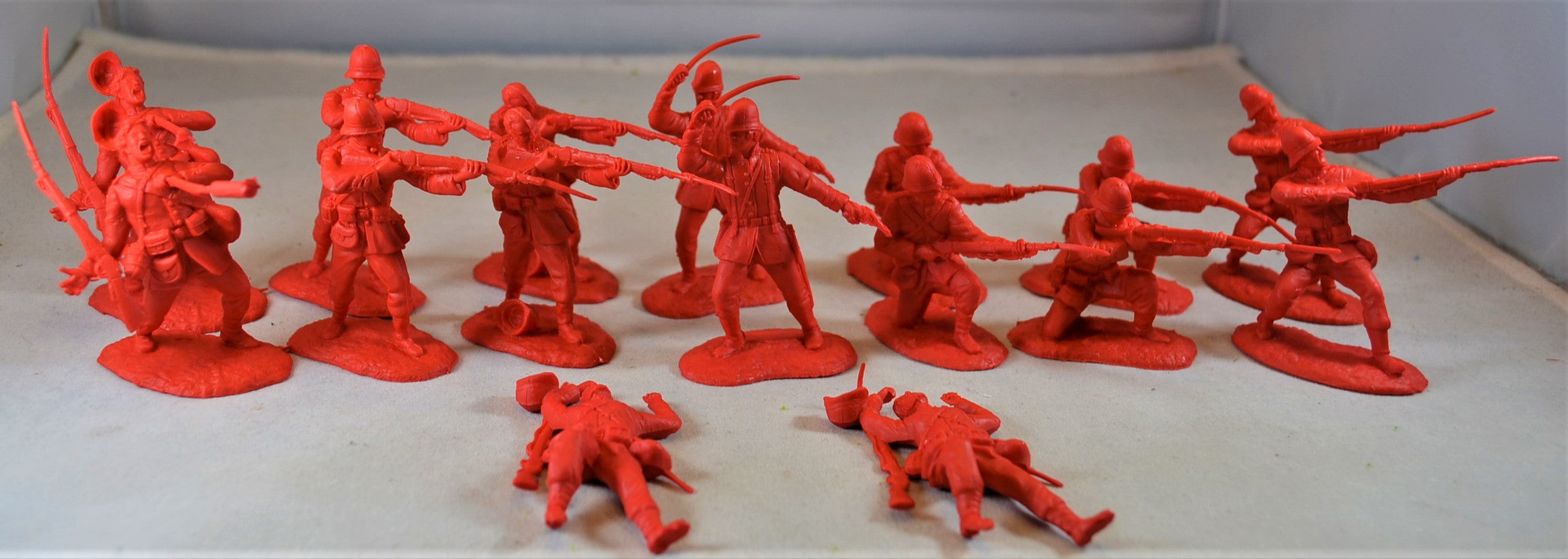 Conte Zulu Wars British 24th Foot 2 Figures Wounded Poses Unplayed 1//32 54mm
