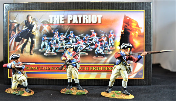 Conte American Revolution Painted British Regulars Firing Line Set The Patriot