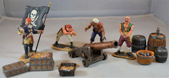 Conte Painted Pirates Set #PIR022 Give 'Em A Broadside Pirate Gun Crew #1