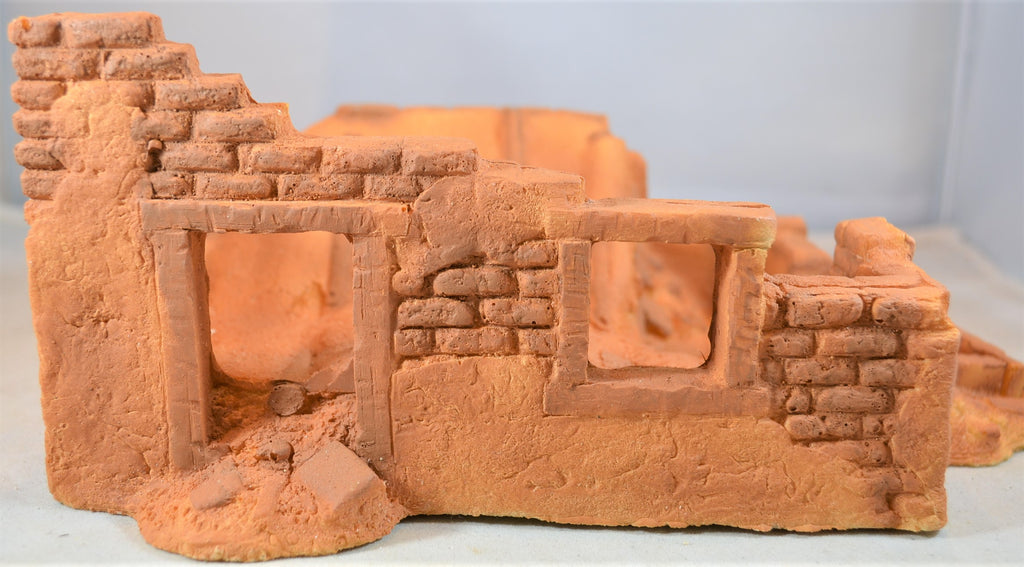 Classic Toy Soldiers Southwestern Alamo Adobe House Building with Collapsed Roof
