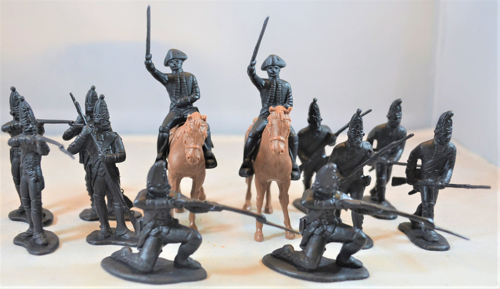 Classic Toy Soldiers American Revolution German Hessians Black