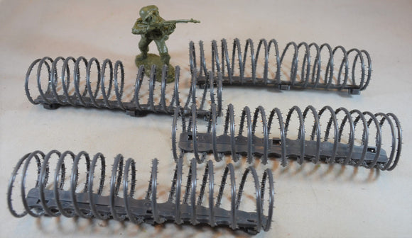 Classic Toy Soldiers World War II Concertina Barbed Wire - 4 Sections
