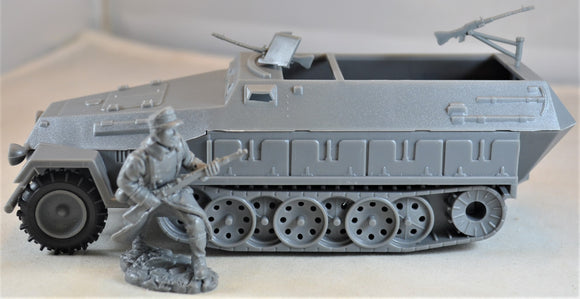 Classic Toy Soldiers World War II German Hanomag Halftrack Gray