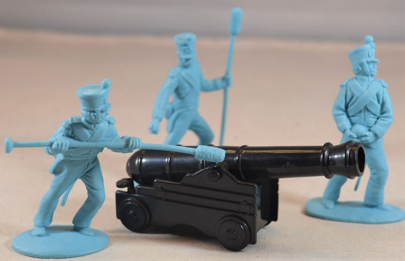 Classic Toy Soldiers Alamo Mexican 3-Figure Cannon Crew