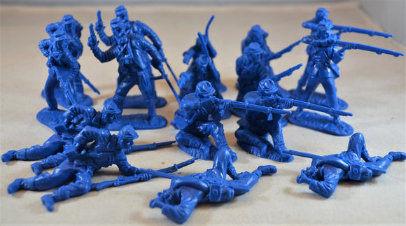 Classic Toy Soldiers Civil War Union Infantry Medium Blue
