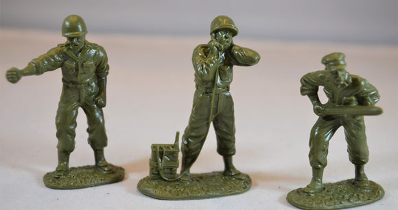 Classic Toy Soldiers World War II US Artillery Crew Set