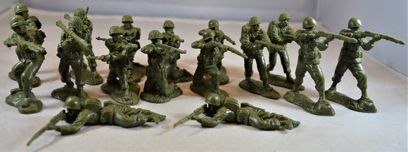 Classic Toy Soldiers World War II US Infantry Set 1 Green