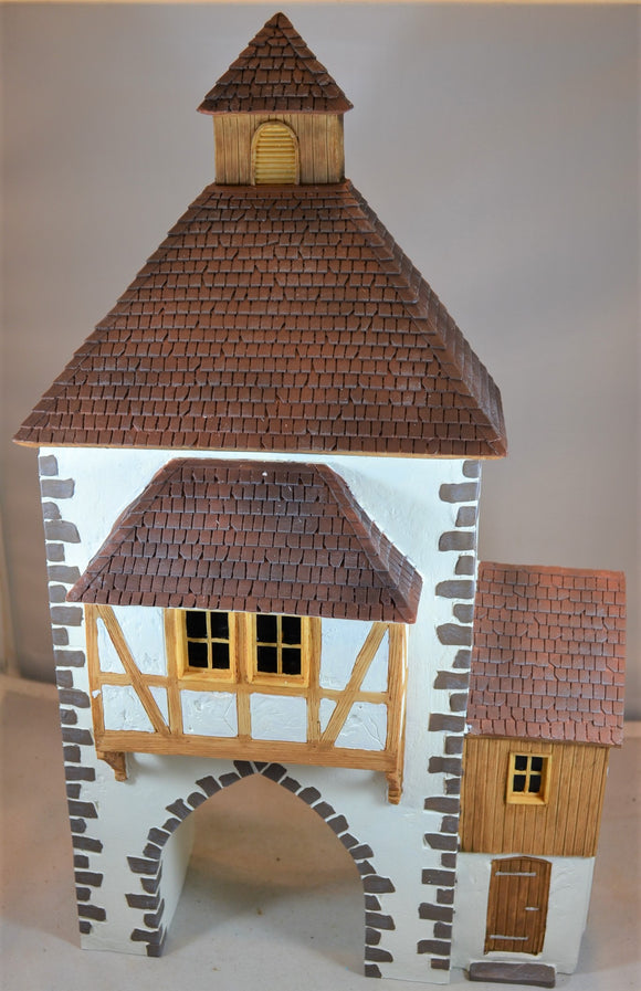 Frontline Figures European German Half Timbered Town Gate House Building