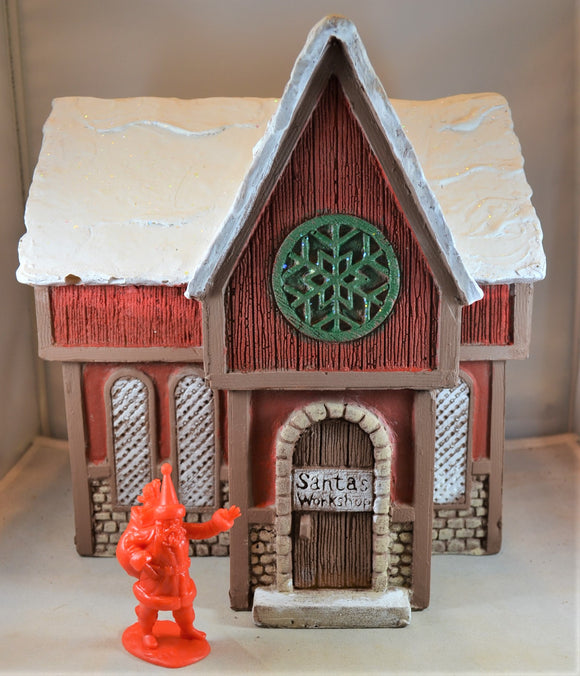 LOD Santa Claus Christmas Workshop House Painted