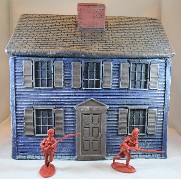 LOD Barzso American Revolution Two Story Colonial House Blue