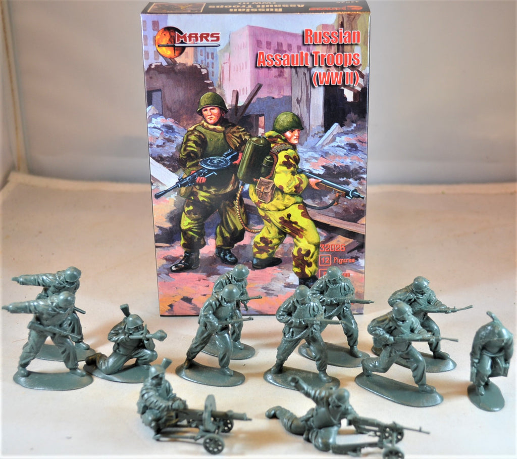 Mars WWII Russian Assault Troop Infantry Set