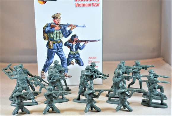 Mars Vietnam War Vietcong Dark Green Toy Soldiers