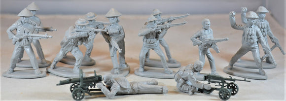Mars Vietnam War Vietcong Heavy Weapons Set Gray Toy Soldiers