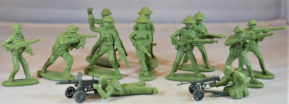Mars Vietnam War Vietcong Heavy Weapons Set Green Toy Soldiers