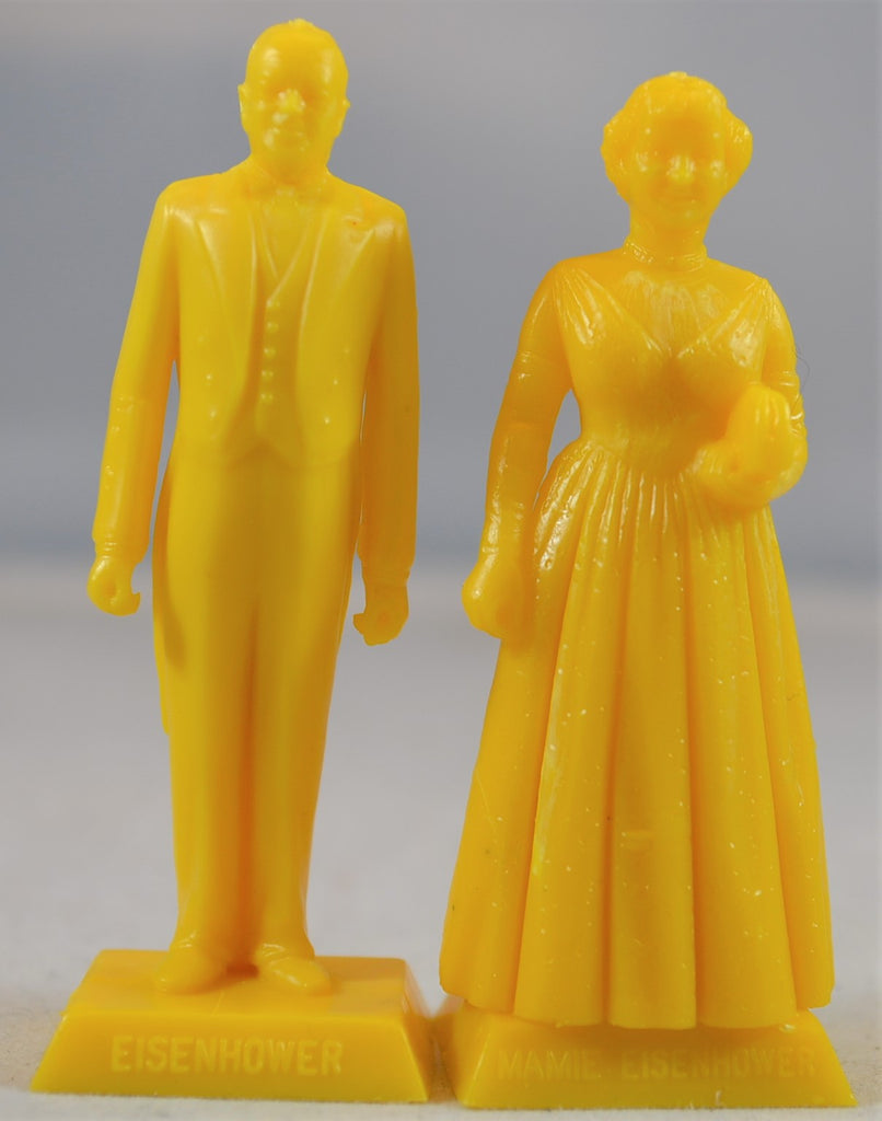 Marx President Dwight Eisenhower and Wife, Mamie Eisenhower Figures - Yellow
