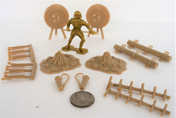Marx Medieval Knights Archery Camp Accessories 54MM