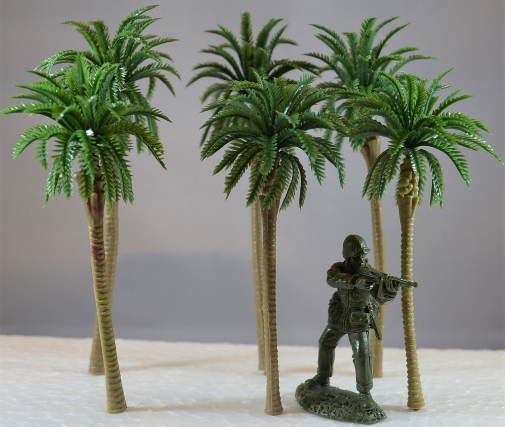 Plastic Palm Trees Set of 6 for Dioramas and Battle Scenes
