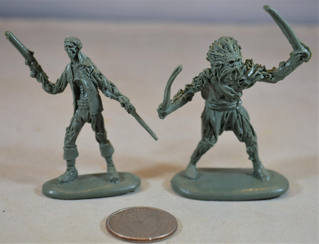Mars Ragetti and Palifico Figures Pirates of the Caribbean Zombie Pirate
