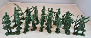 Marx Boonesboro Pioneers Toy Soldiers Green