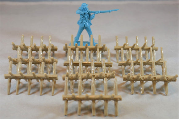 Marx Civil War Chevaux de Frise Barricade Tan