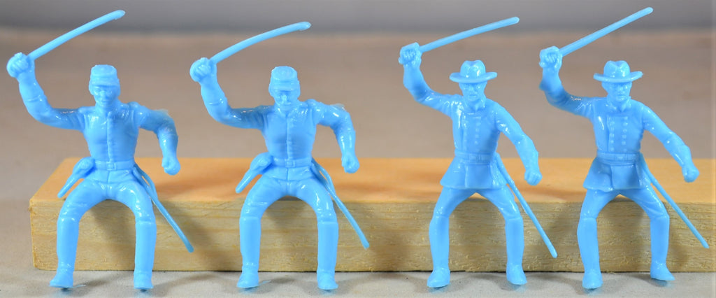 Marx Civil War Union Cavalry Riders Set of 4 - Light Blue