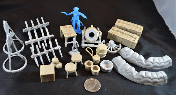 Marx Civil War Camp Battlefield Accessories