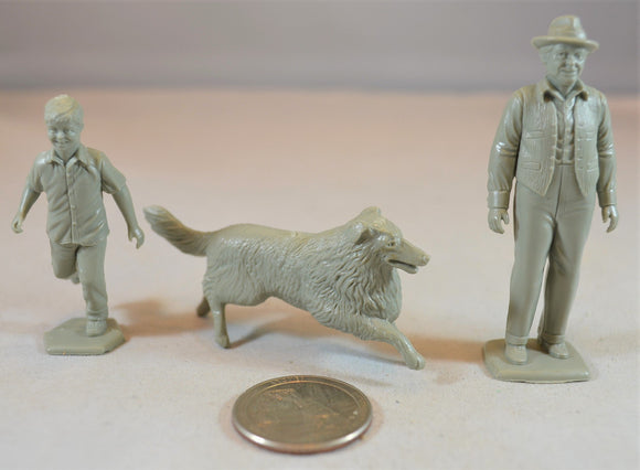 Marx Farm Characters Set with Lassie, Jeff & Gramps