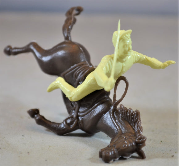 Marx Civil War Falling Horse Rider Cream