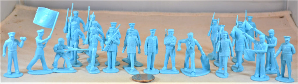 Marx US Marines Sailors Toy Soldiers Light Blue