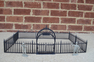 Marx Wrought Iron Fence and Gate Black Plastic