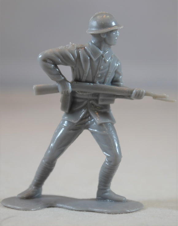 Marx WWII French Infantry Figure #1 Gray