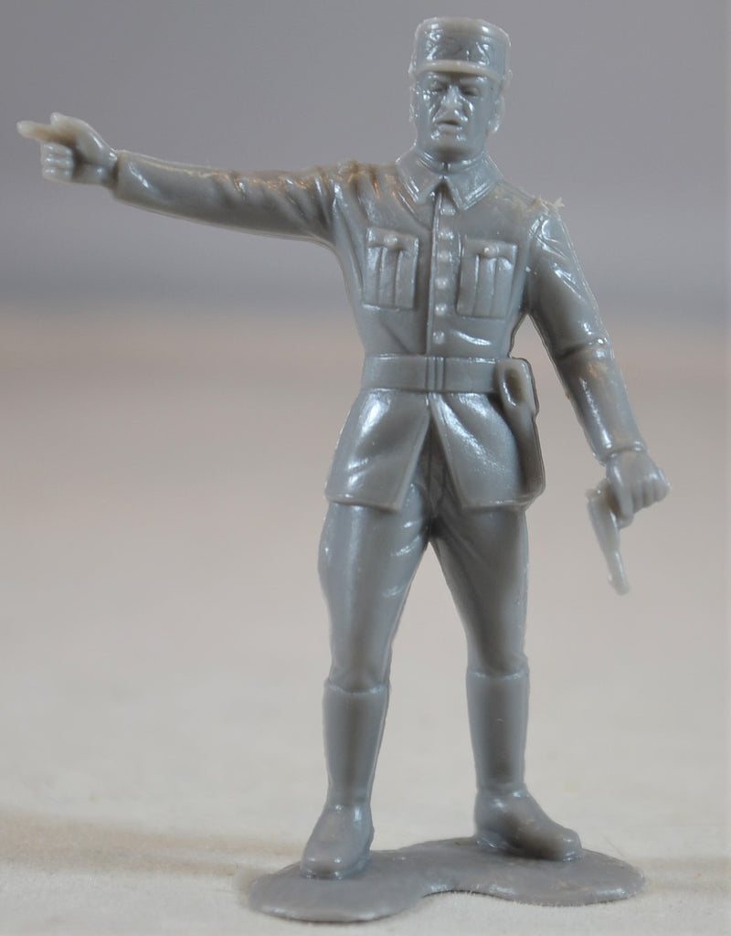 Marx WWII French Infantry Officer Gray