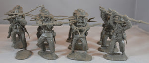 Paragon Civil War Confederate Charging Infantry Set 1 Gray