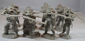 Paragon Civil War Confederate Infantry Firing Line  Set 2 Gray