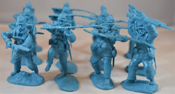 Paragon Civil War Union Charging Infantry Set 1 Blue