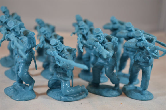 Paragon Civil War Union Firing Infantry Set 2 Blue