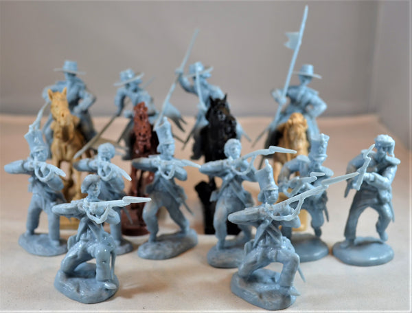 Paragon Alamo Mexican Cavalry and Infantry Set 3 Light Blue