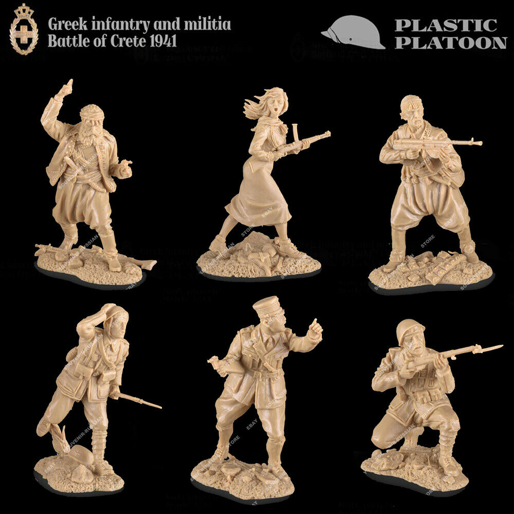 Plastic Platoon WWII Greek Infantry and Militia Battle of Crete 1941