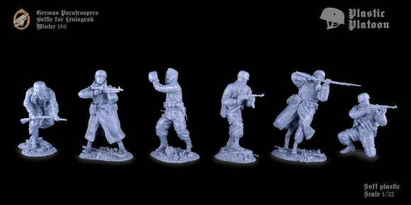 Plastic Platoon WWII German Paratroopers Battle of Leningrad