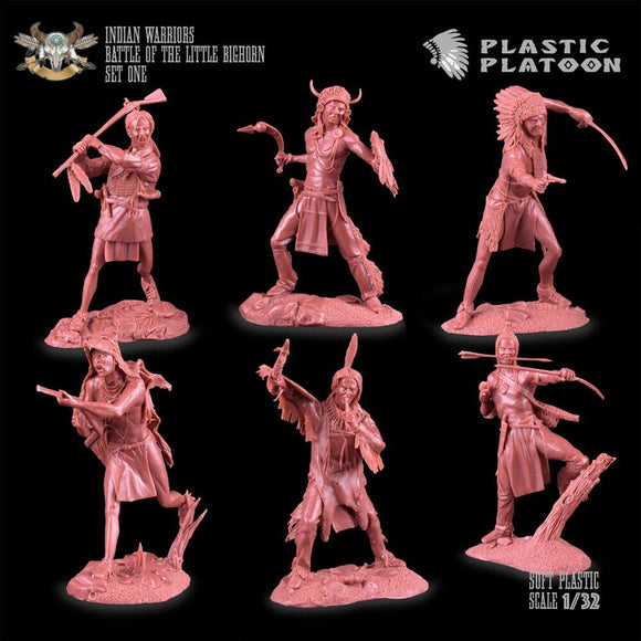 Plastic Platoon Battle of Little Big Horn Indian Warriors Set 1